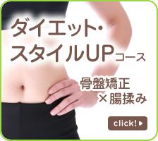 ダイエット・スタイルUPコース:骨盤矯正×腸揉み